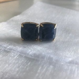 brand new kate spade blue and gold stud earrings
